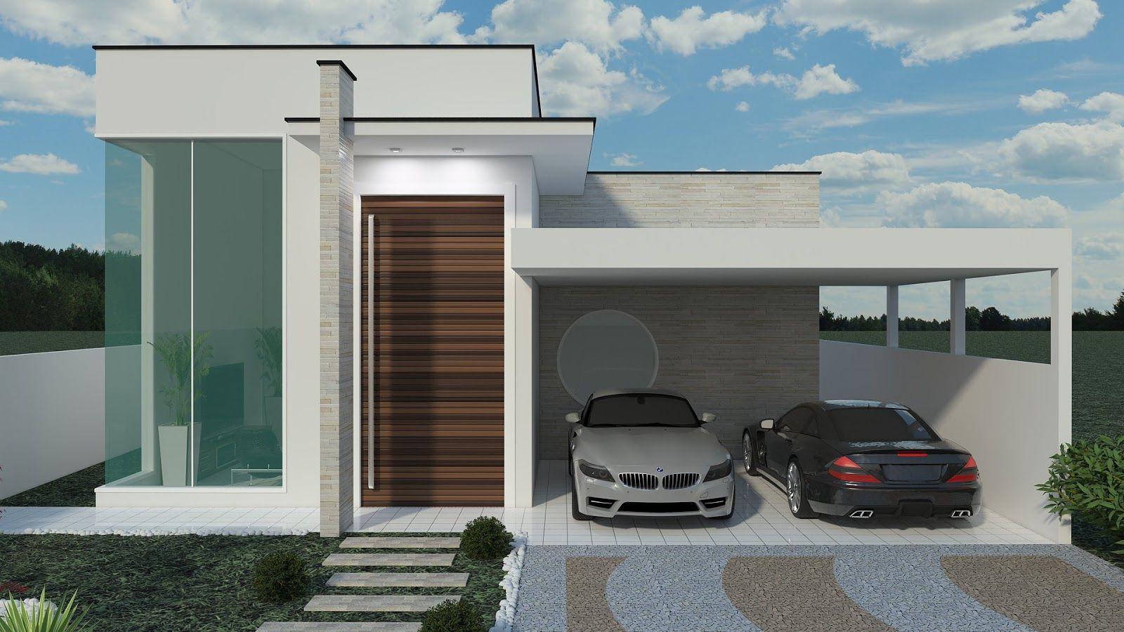 Fachadas de casas quadradas veja 40 modelos dos sonhos for Casa modelo americano