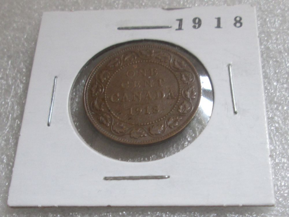 1918 Large Canada Penny Mintage 1 Cent 1918 12 970 798 Wwi 95 Copper Diam 25 Rare Coins Coins Money