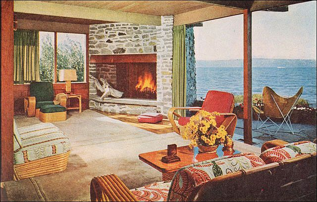 1953 Shipshape Home In Puget Sound Retro Home Decor Mid Century