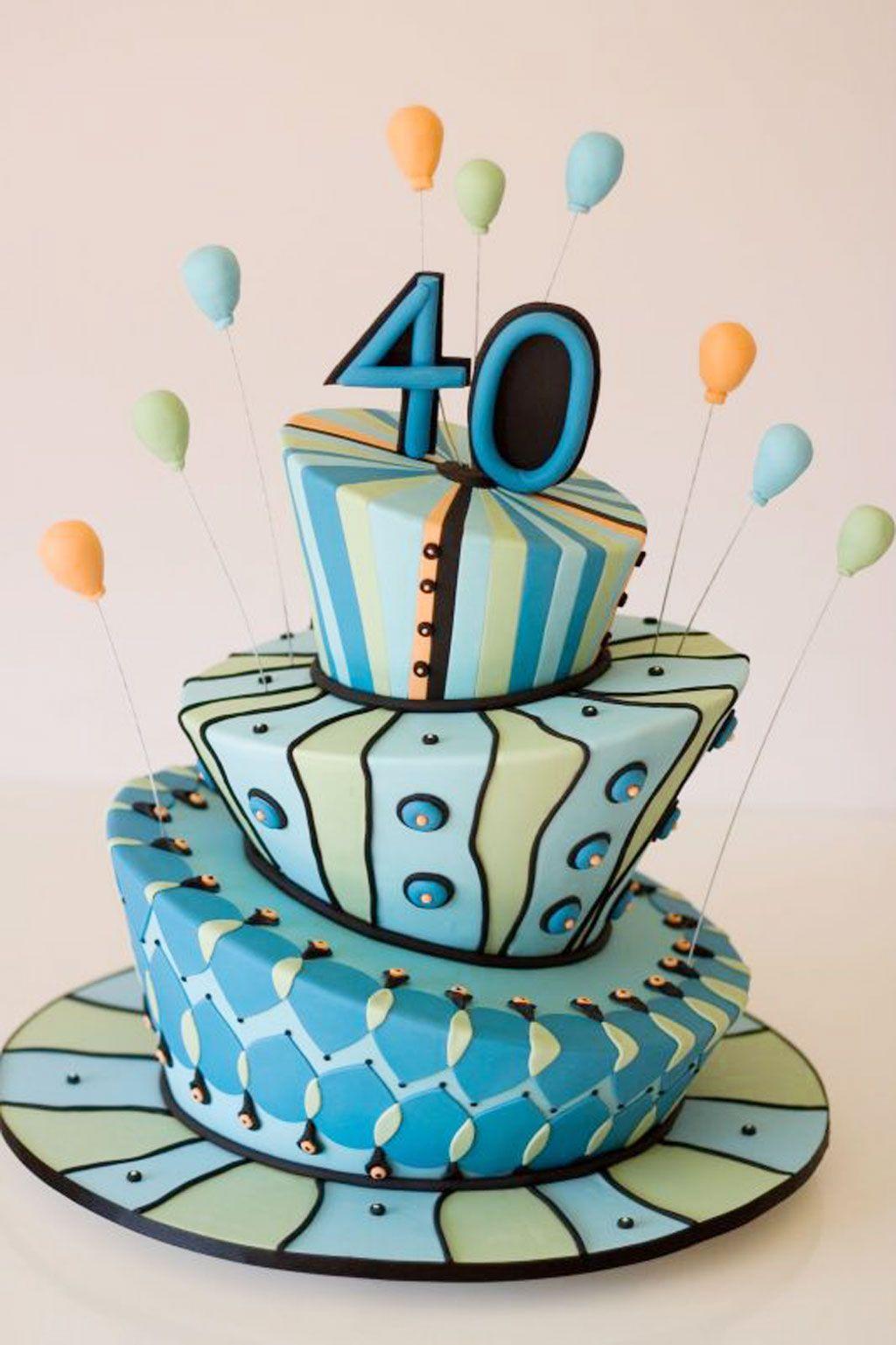 40th Birthday Cake Decorating Ideas 40th Birthday Cakes Birthday Cakes For Men 40th Birthday Cakes For Men