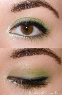 eotd bfte simple green smokey eye  green eyeshadow