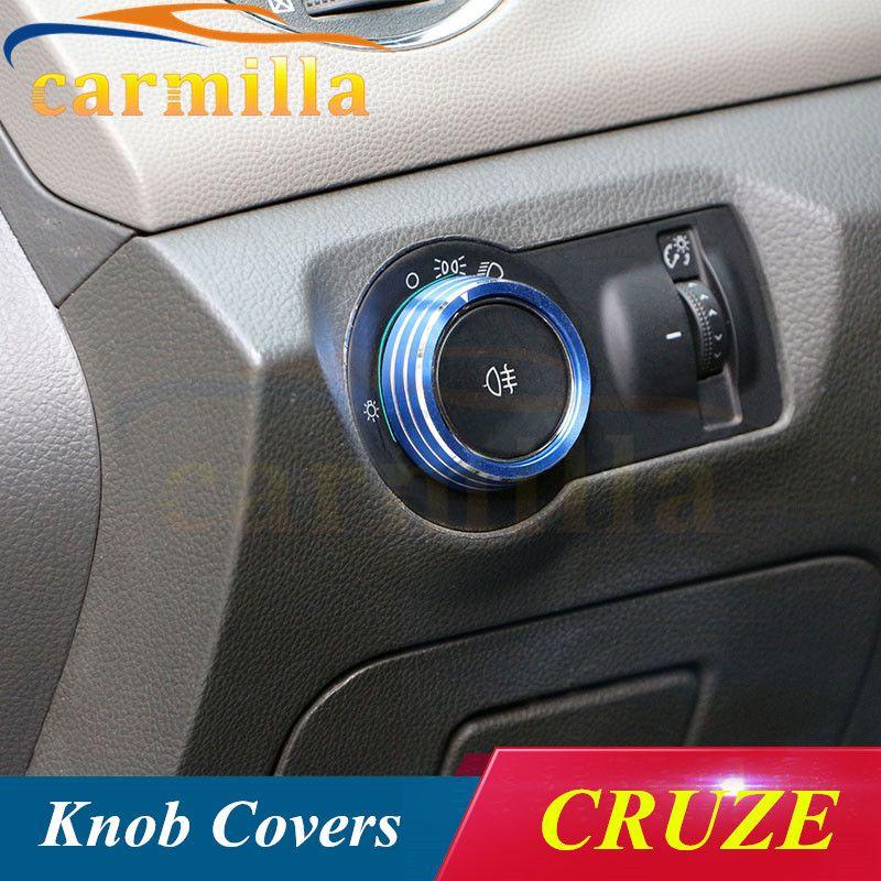 Aluminium lamp koplamp schakelaar decoratie sticker trim Case Voor Chevrolet Malibu Cruze Trax Opel Mokka ASTRA J Insignia