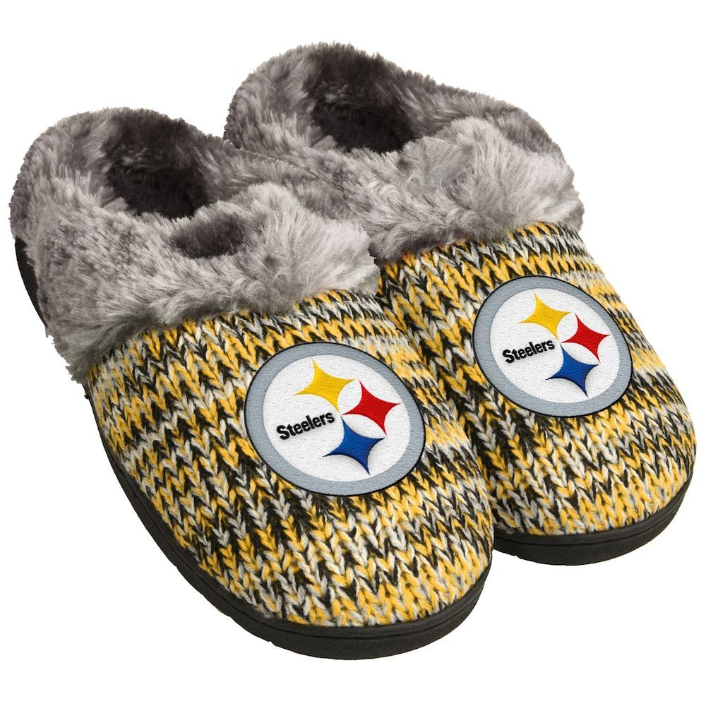 d7abacf187fdf Women s Forever Collectibles Pittsburgh Steelers Peak Slide Slippers ...