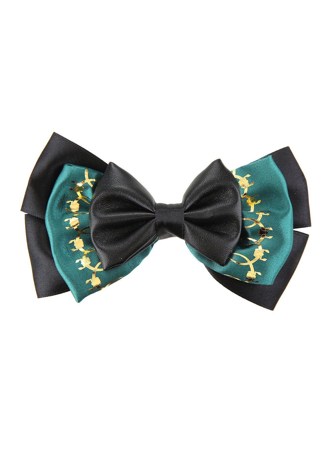 Black bow hair accessories - Marvel Loki Cosplay Hair Bow Hot Topic