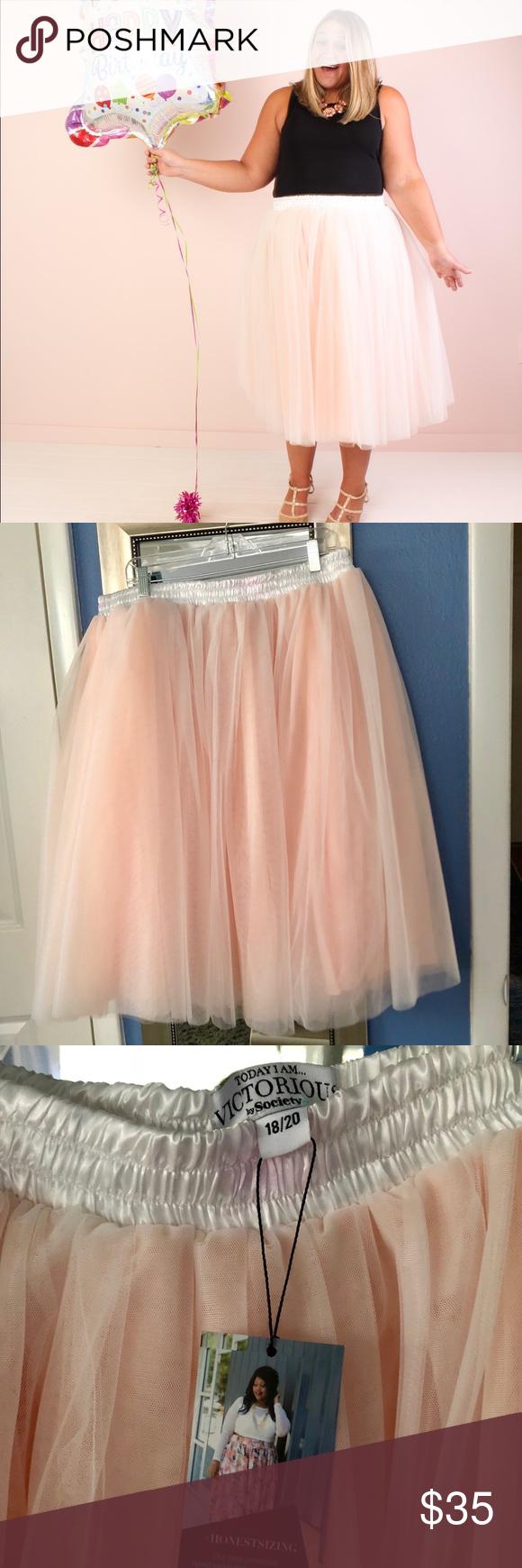 Photo of Society Plus plus sized pink tutu skirt size 18/20 Gorgeous plus sized tulle tut…