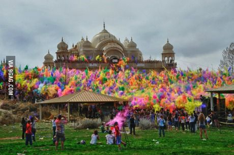 Festival of Colors at Sri Sri Radha Krishna Temple