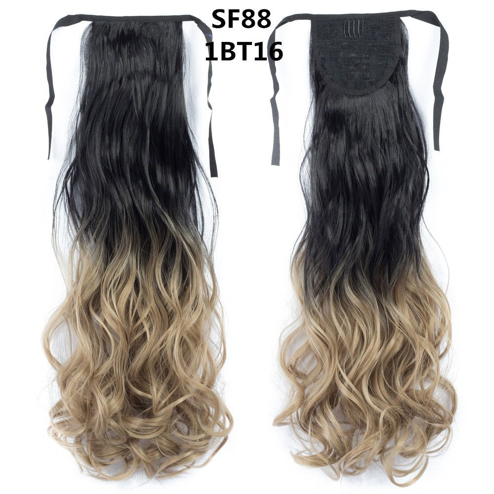 Kinky Curly Human Hair Style Ombre Ponytail Hair Ombre Braiding
