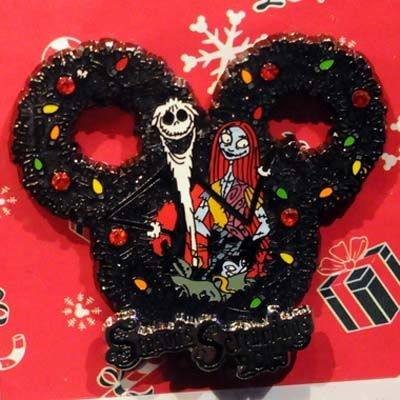 Your WDW Store - Disney Christmas Pin - Seasons Screamings 2014 - Jack and Sally