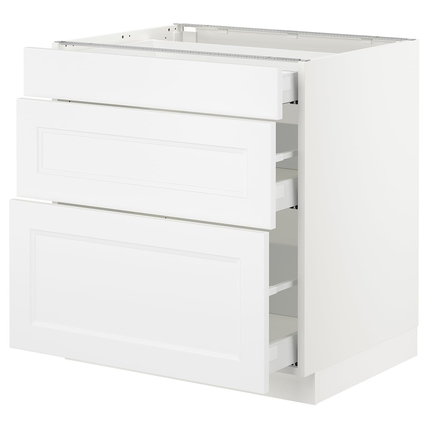 Sektion Base Cabinet With 3 Drawers White Maximera Axstad Matt White 30x24x30 Ikea Base Cabinets Ikea Drawers