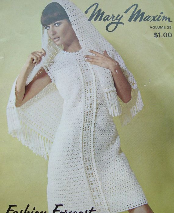 Vintage Mary Maxim Knitting and Crocheting Pattern Book with Designs ...