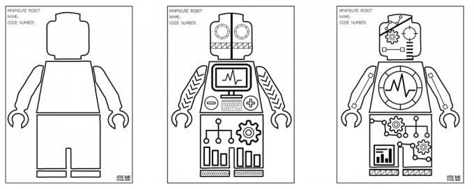 Robot Coloring Pages Free Printables Lego Coloring Pages Free