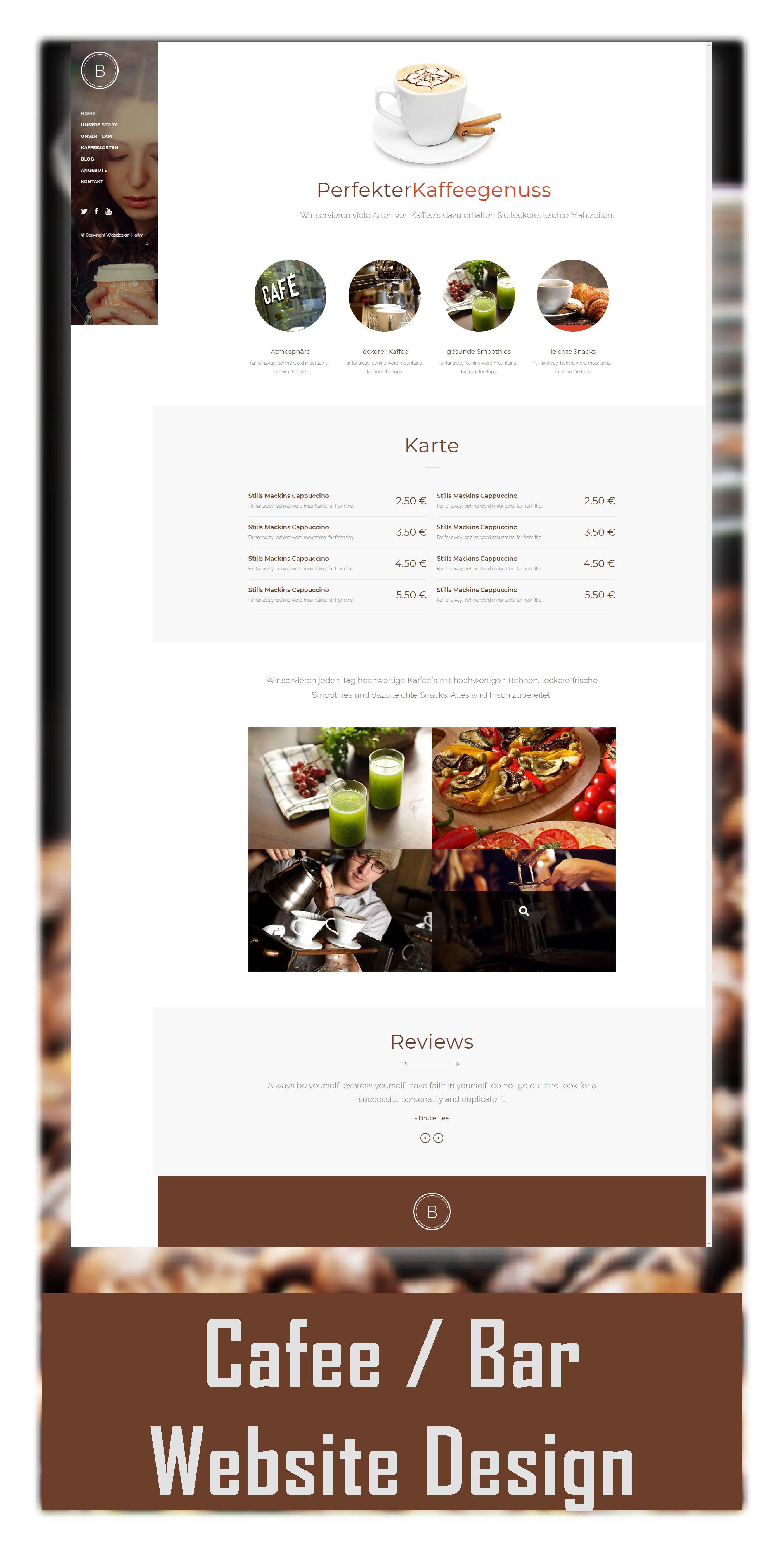 Cafe Bar Website Webdesign Homepage Webseite Responsive Bar Website Web Design Cafe Bar