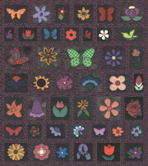 Butterfly Garden Quilt Pattern - A great take along quilt-as-you-go quilt project. The quilt pattern is available exclusively through my site here: http://www.victorianaquiltdesigns.com/VictorianaQuilters/PatternPage/ButterflyGarden/ButterflyGarden.htm #quilting #embroidery