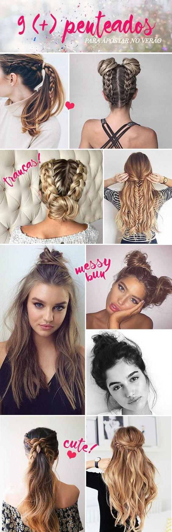 penteados para apostar no verão peinados pinterest hair
