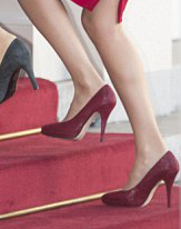 Magrit red leather platform pumps. Debuted Oct 2014