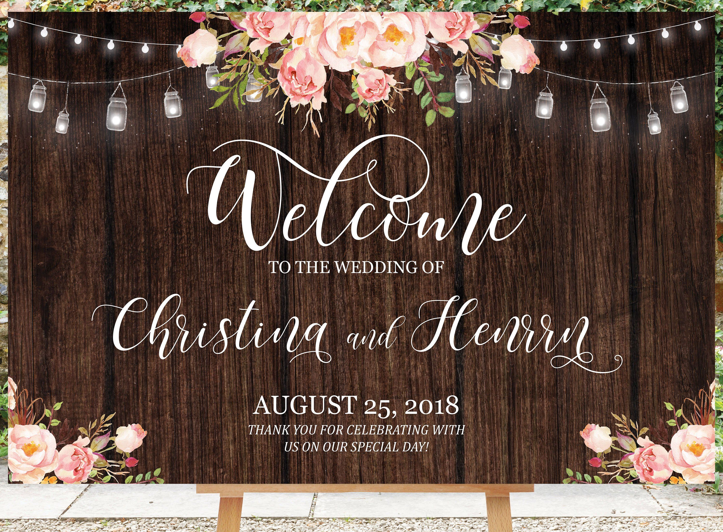 Coral Rustic Wood Effect Don/'t Post Photos Online Personalised Wedding Sign