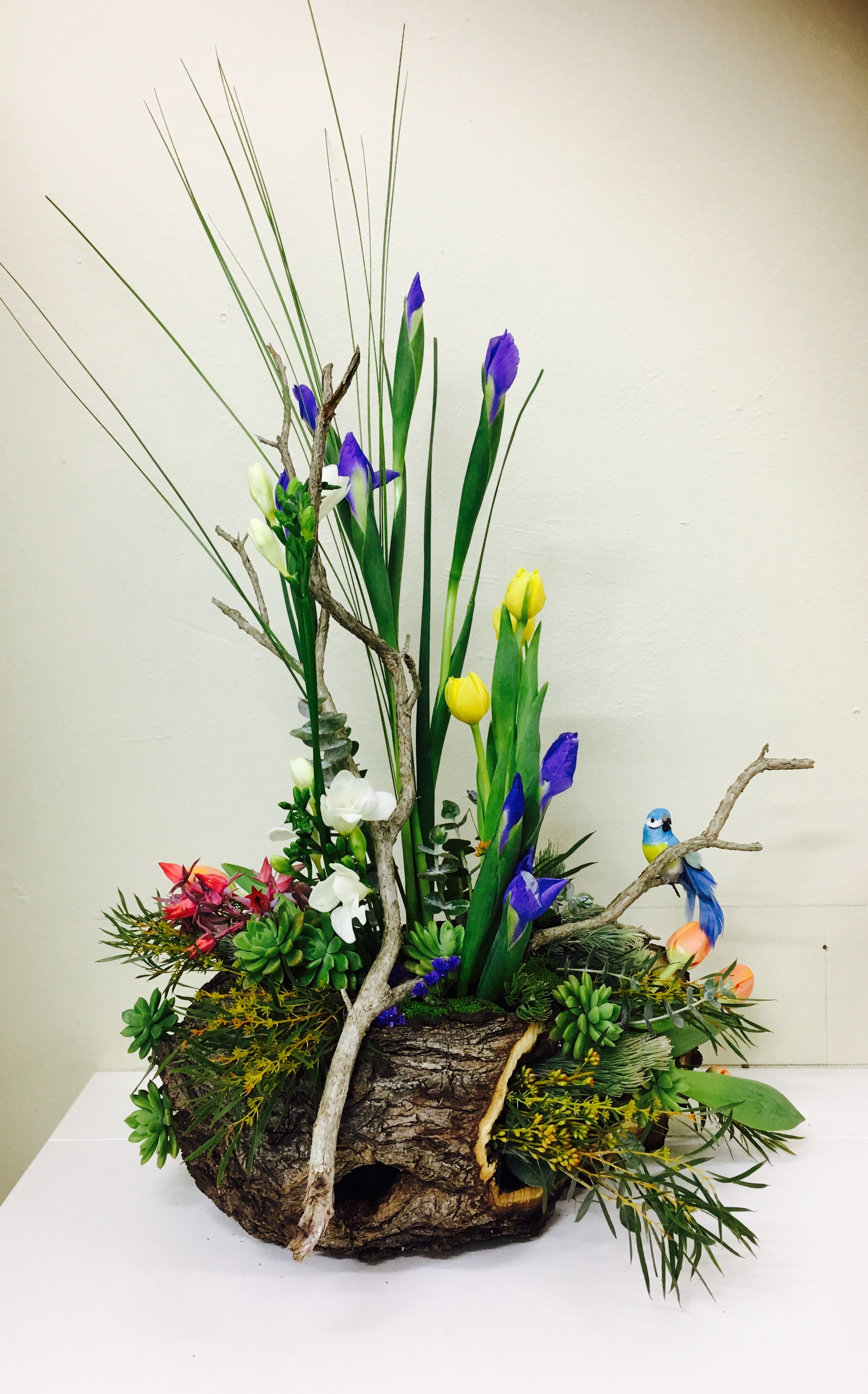 vegetative arrangement spring flower arrangements