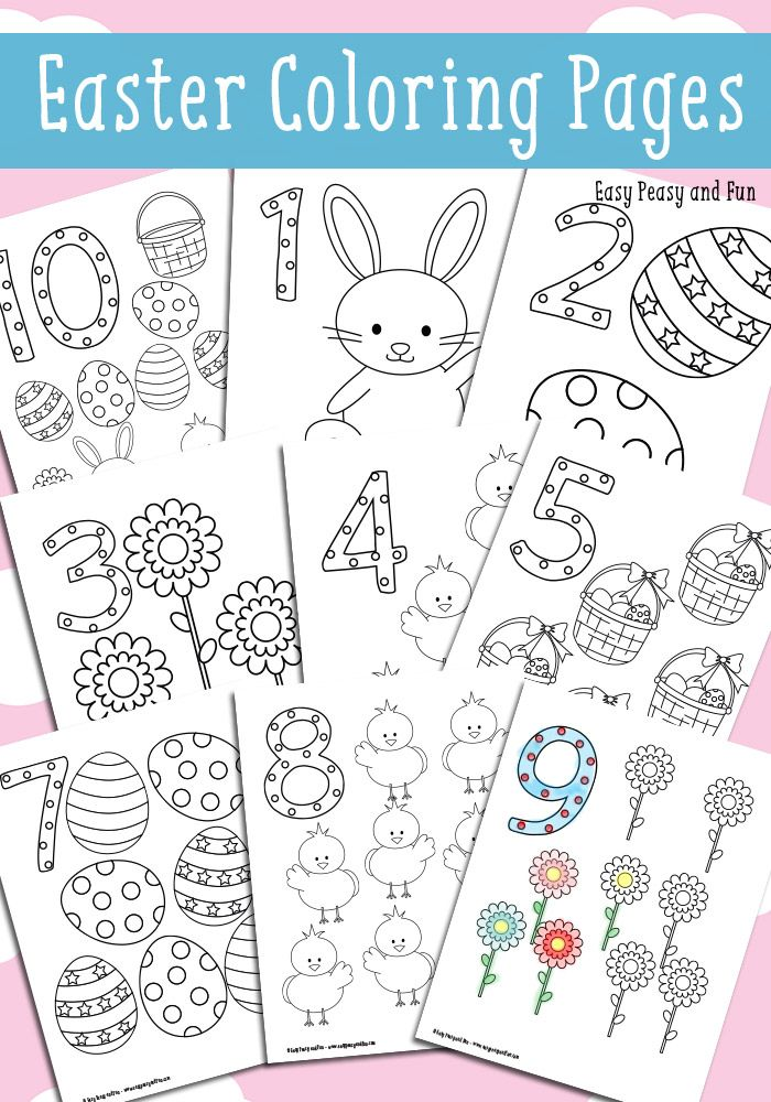 Easter Counting Coloring Pages Kid Blogger Network