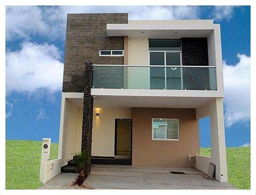 fachadas de casas de dos pisos sencillas arquitectura