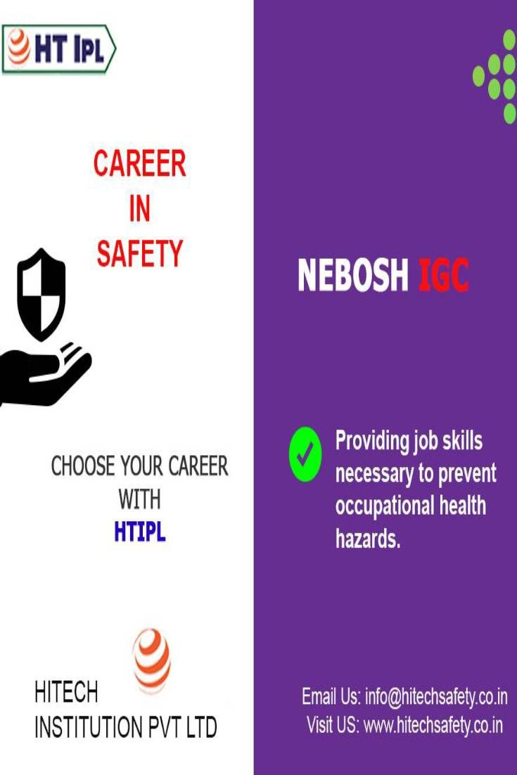 Career advancement of nebosh courses in safety and health