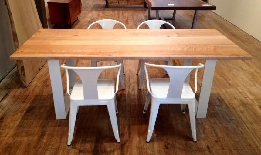 """Maple Dining Table With White Legs 84"""" Long X 36"""" Wide X 30""""tall Prepossessing Maple Dining Room Table Inspiration Design"""