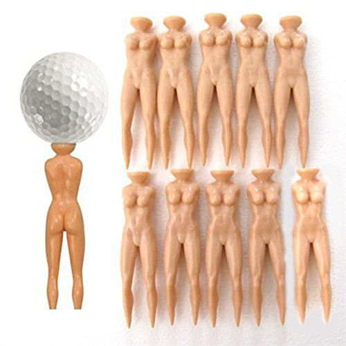 Nothing wrong being a naughty golfer....  Nuddie Golf Tees Naked Lady Nude Woman Figure Set of 20 P...