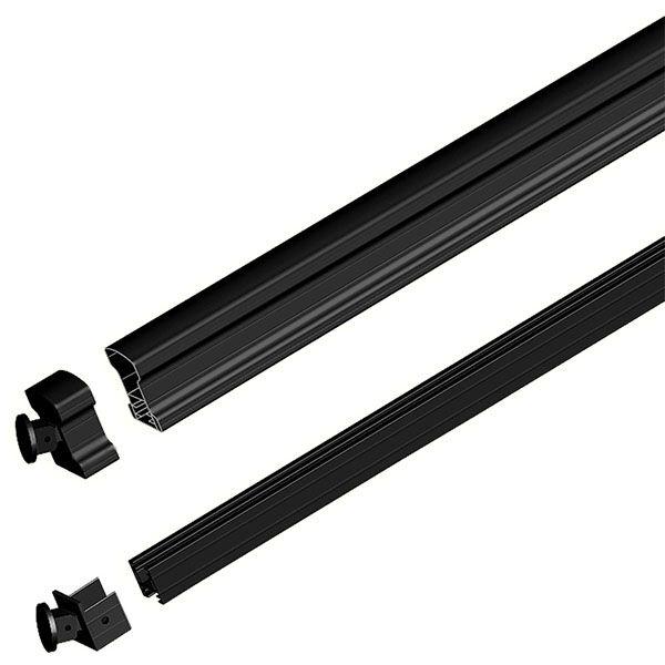 Best Peak Aluminum Railing Black 6 Ft Aluminum Stair Hand And 640 x 480