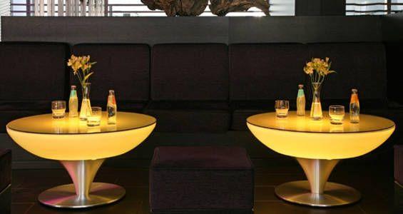 Luminaire Mobilier Lumineux A Led Table Lounge Lumineuse Rgb Sans Fil De Table Basse Led Mobilier De Salon Table Lumineuse