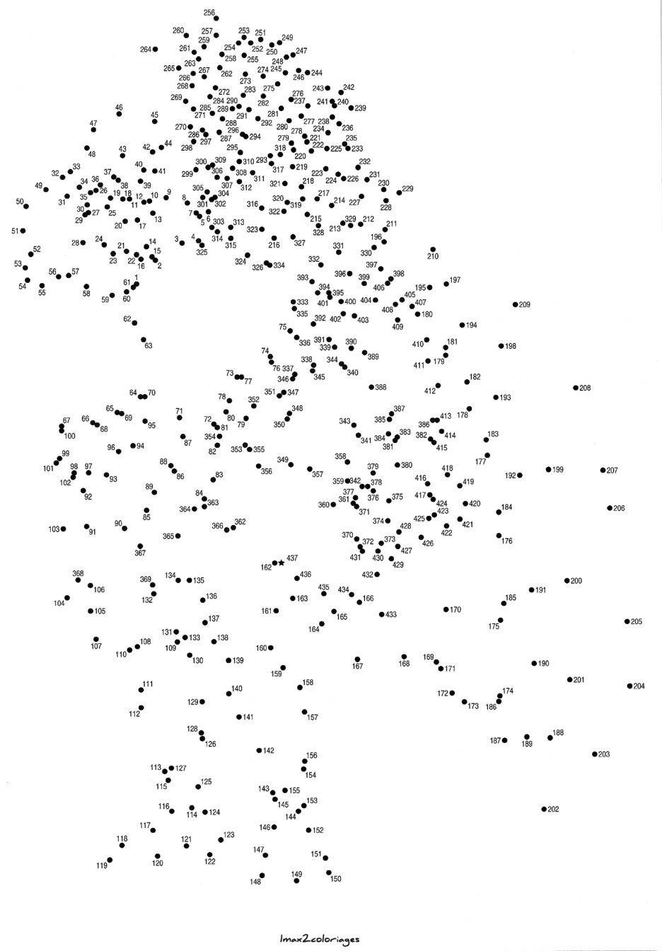 Animaux dessin cerfs relier pour adulte dessin centurion - Point a relier difficile ...