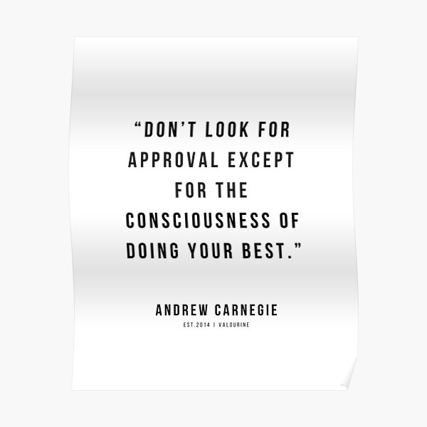 '52 |Andrew Carnegie Quotes | 21010 | Motivational Inspirational Success Quote Personal Development Business Coach' Poster by QuotesGalore