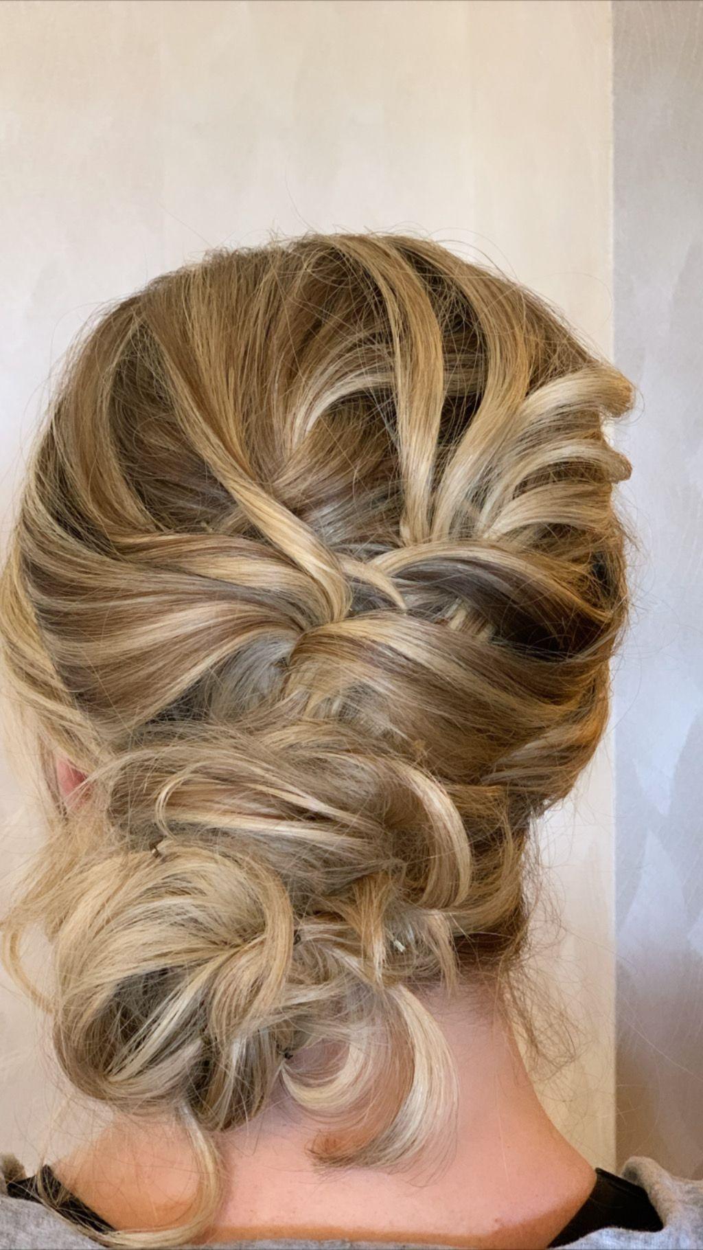 Low bun, low textured bun, bridal bun, low bridal bun