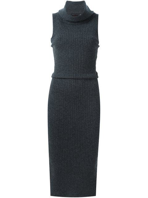 ALICE + OLIVIA Cowl Neck Knitted Dress. #alice+olivia #cloth #dress