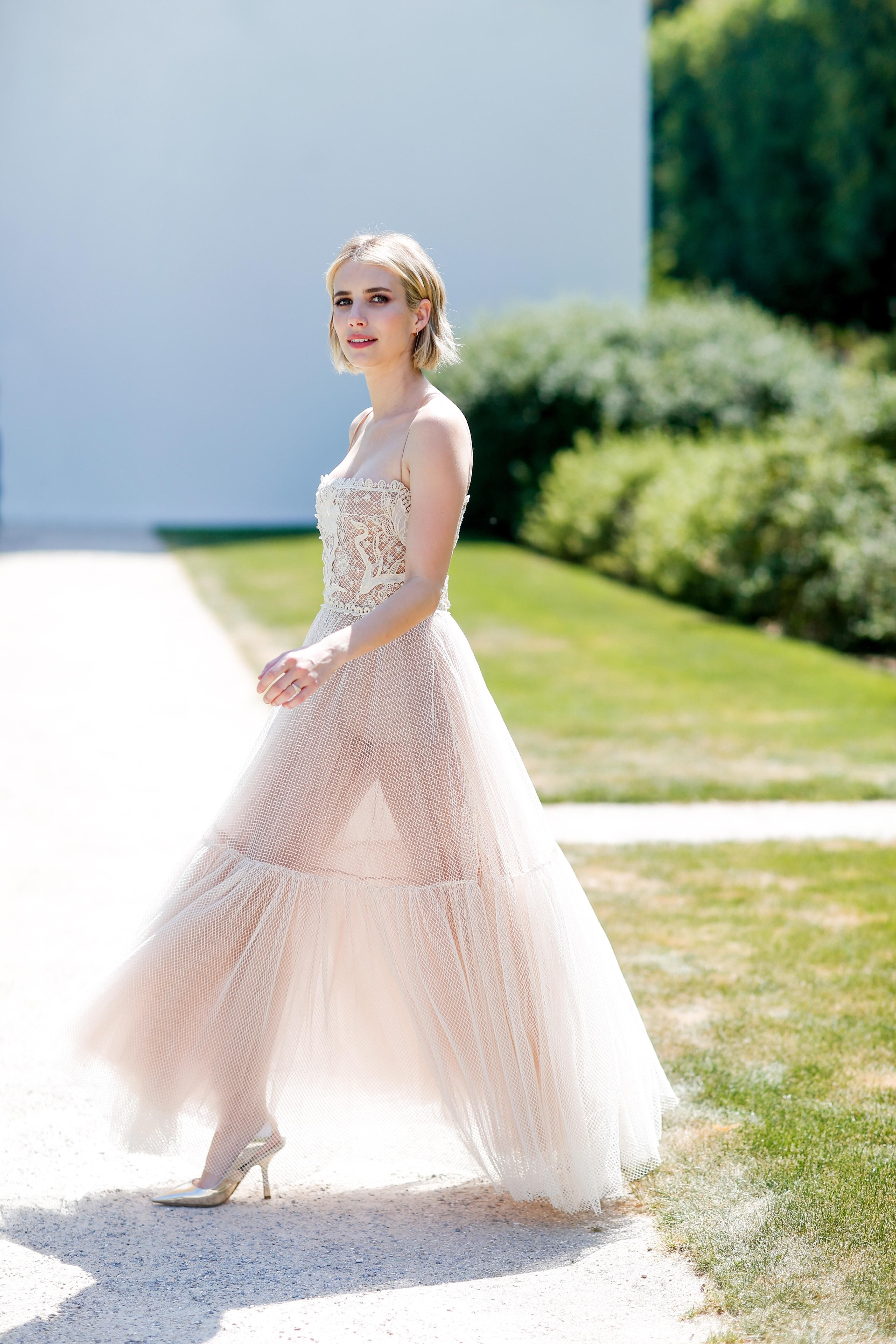 Emma Roberts See Through Dress Dresses Emma Roberts