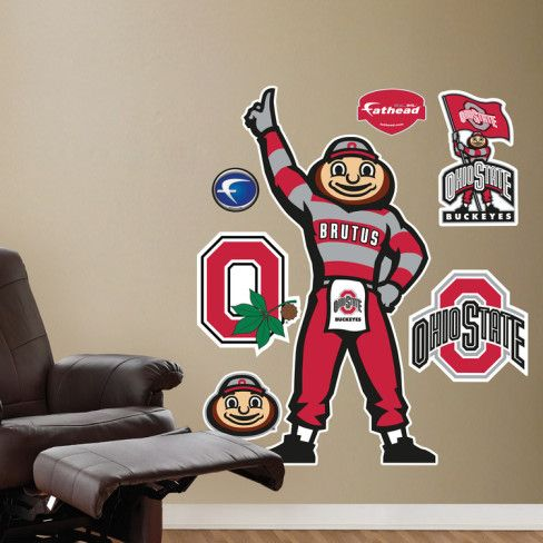 Brutus Buckeye Illustrated Mascot Wall Decal at AllPosters.com