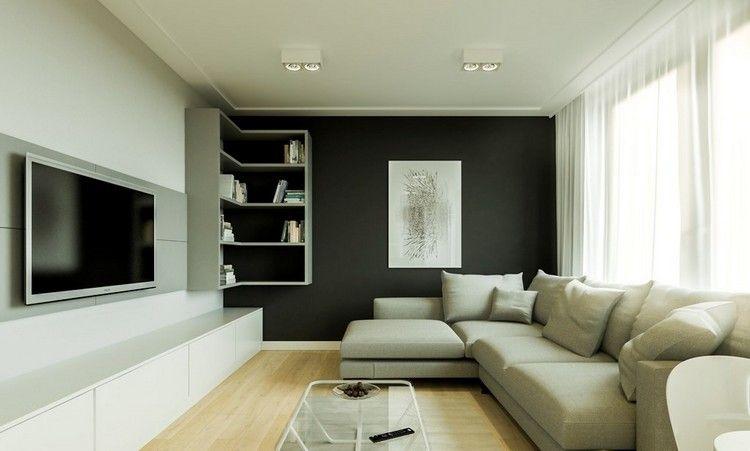 Wandpaneele als Hintergrund für wandmontierten Fernseher - wohnzimmer bilder fr hintergrund