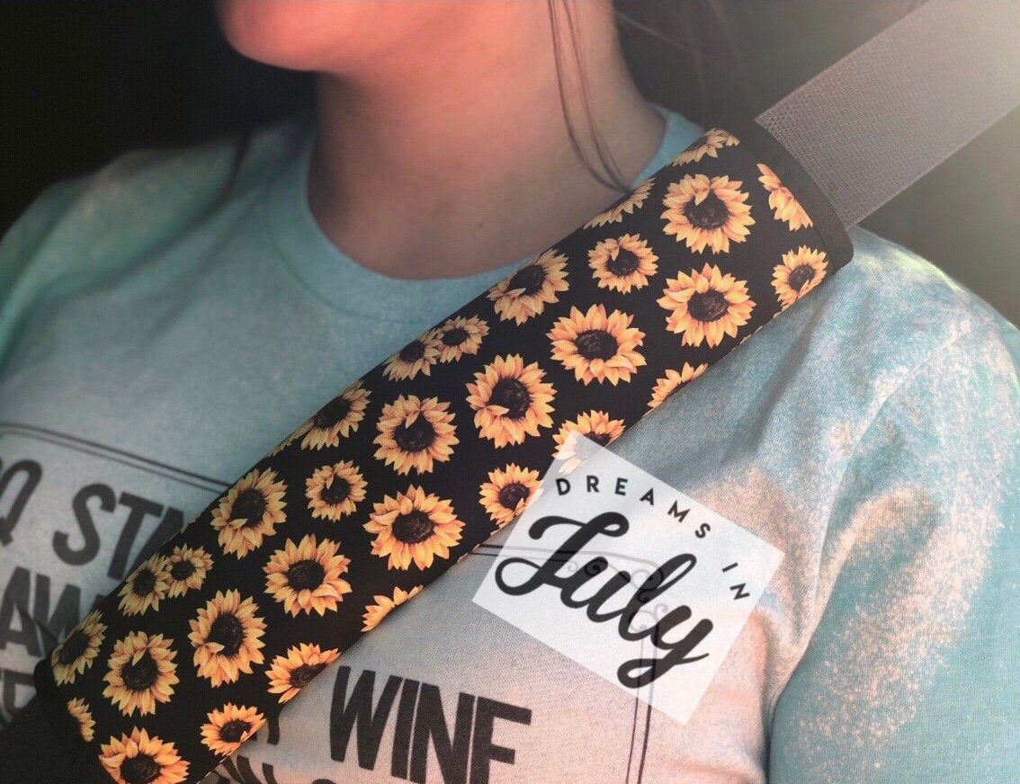 Sunflower Seat Belt Cover, Sunflowers Car Accessories
