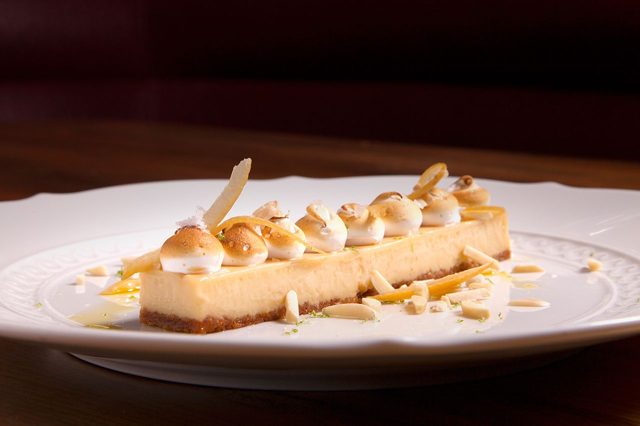 The lemon tart (made with some preserved lemon juice) might just be the best in New York City. Photographer: Dominic Perri/Bloomberg
