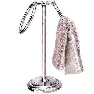 Neu Home Countertop Towel Stand Chrome Bathroom Redo