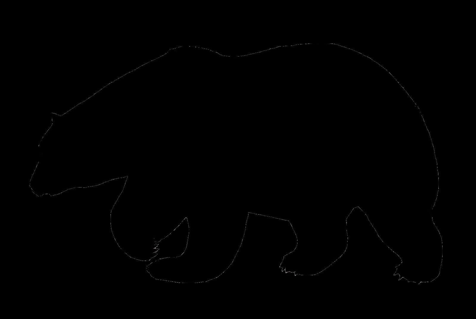 Create A Silhouette Bear Silhouette Polar Bear Bear