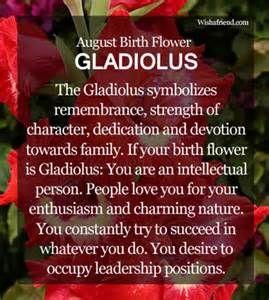August Birth Flower : Gladiolus   Tattoos   August birth
