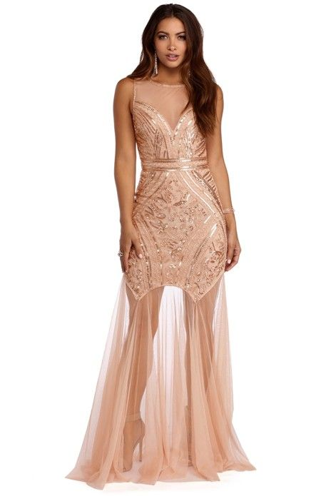 Ariel Luxe Gown   Gold maxi dress, Backless dress formal
