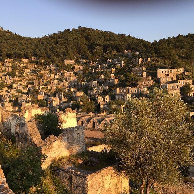 Good Evening From #Kayakoy Ghost Village #Fethiye #Turkey