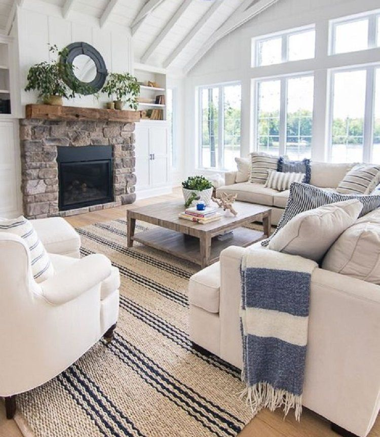 How To Give Your Home a Coastal Makeover! #coastallivingrooms