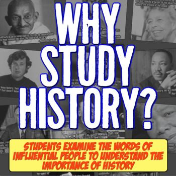 Photo of Why Study History? First Day of School Activity for World and American History