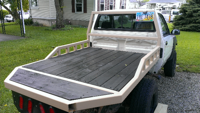 My Youngest Son S Flatbed Build Yotatech Forums Custom Truck Beds Flatbed Truck Beds Custom Trucks