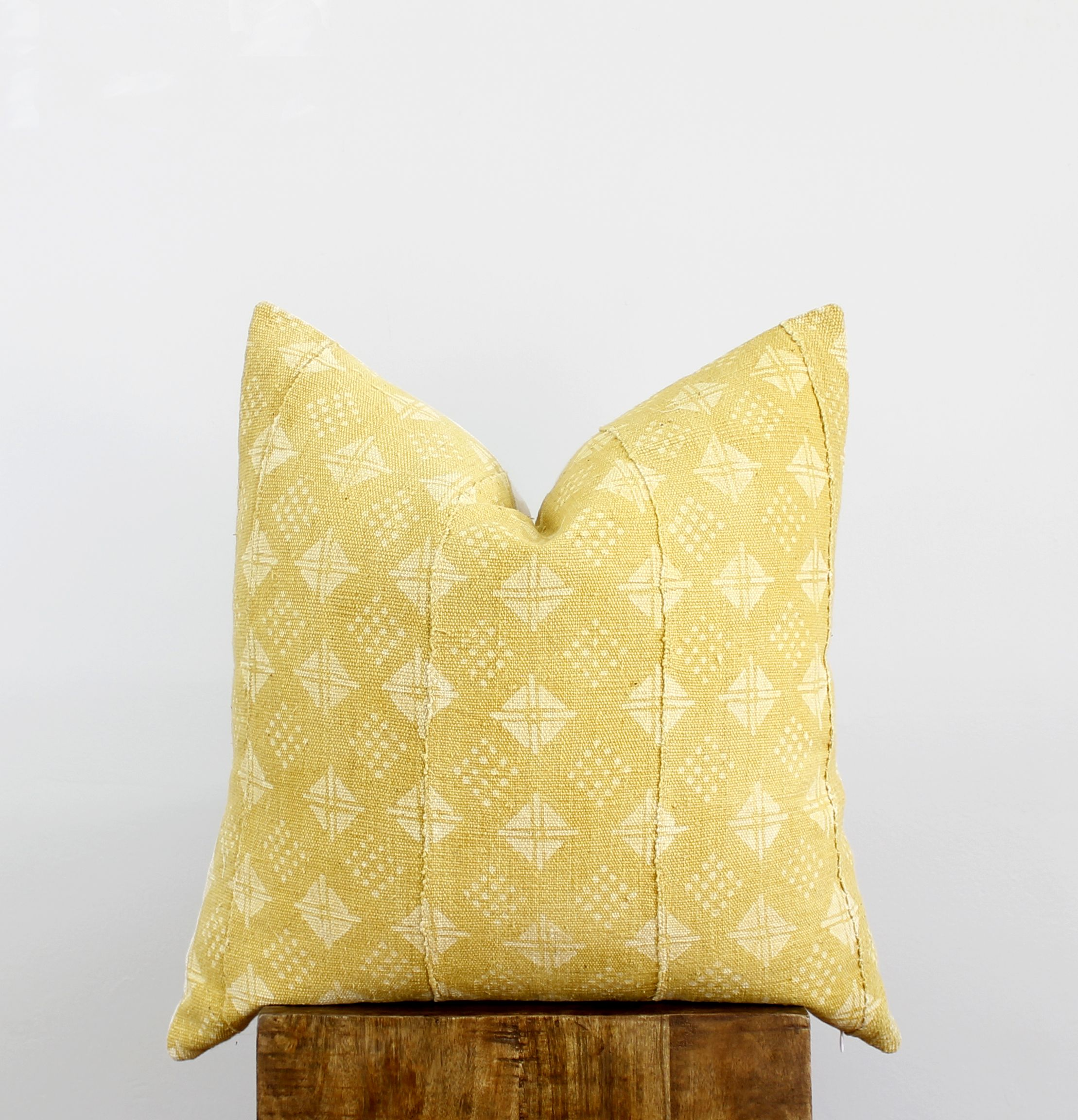 Mustard Mudcloth Pillow <3