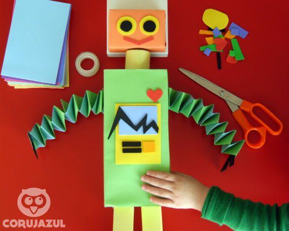 Well-known ROBÔ COM CAIXINHAS DE PAPEL - Corujazul | Robotit | Pinterest  ZO28