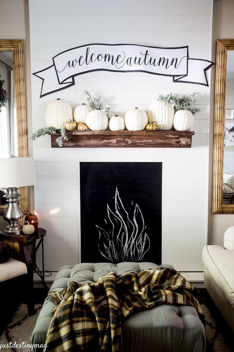 Mantle Free Printable Fall Banner Just