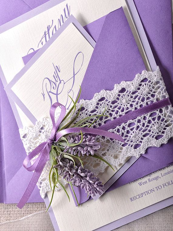 Lavender Wedding Invitations   Google Search