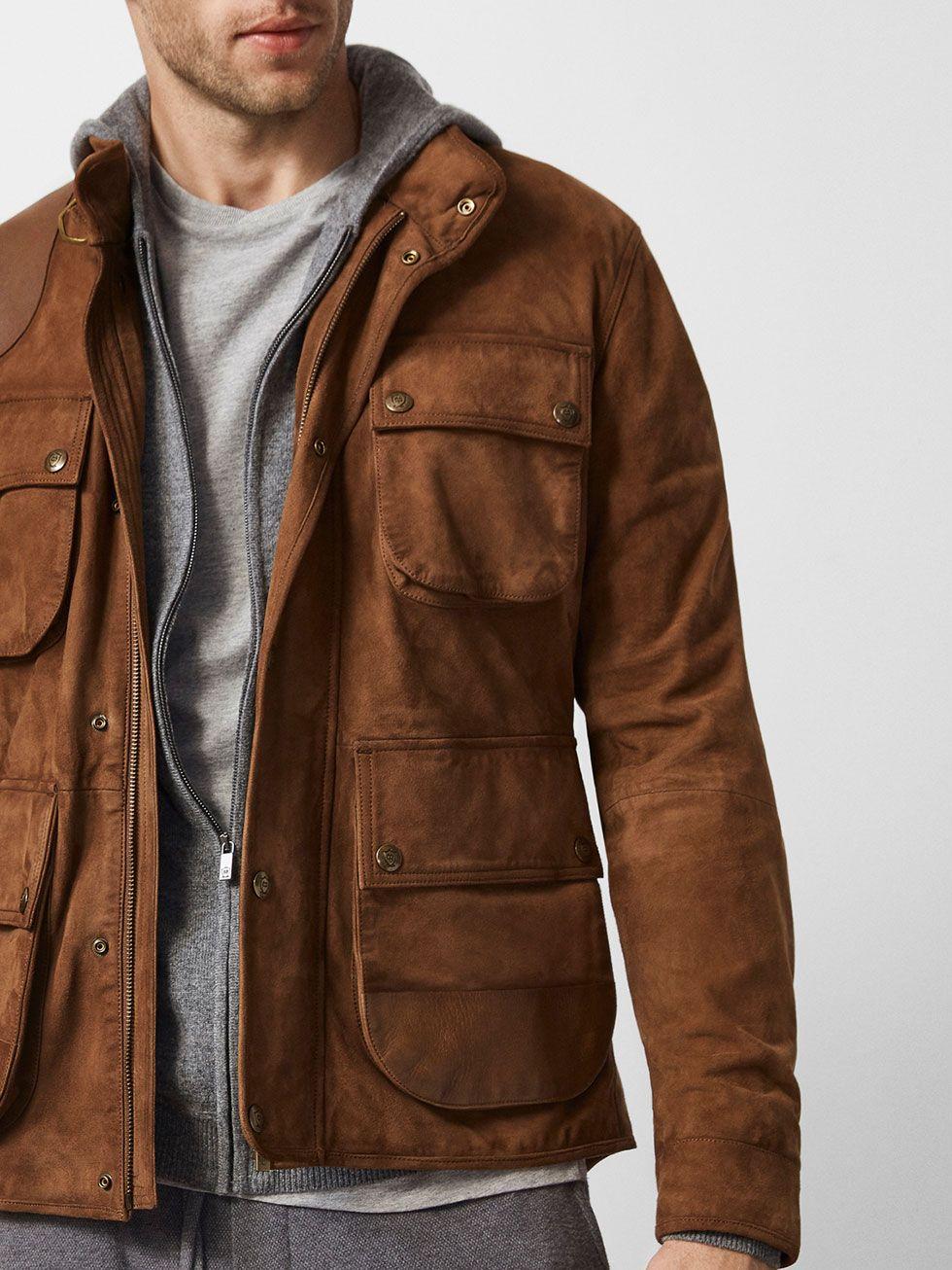 Jackets Men Massimo Dutti Leather Jacket Outfit Men Mens Outfits Leather Jacket Men [ 1306 x 980 Pixel ]